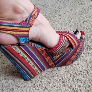 Ladies Serape Heels